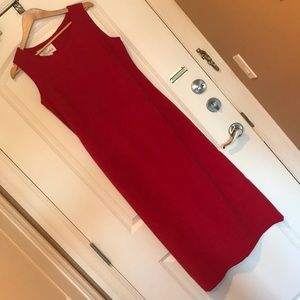 Vintage Ultra-suede Maxi Dress in Red